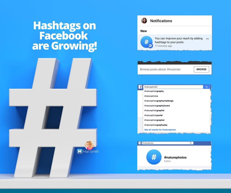 Facebook Hashtags from Mari Smith